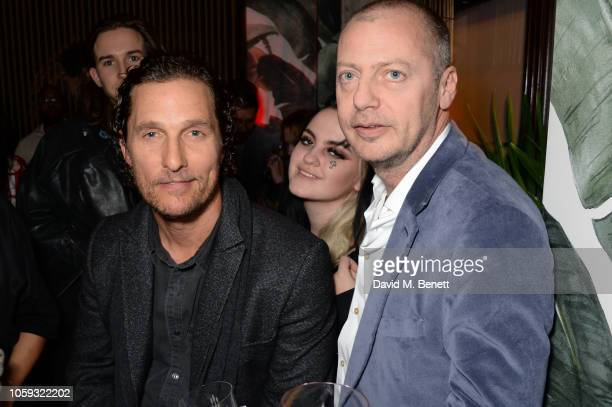 Matthew McConaughey Charlotte Emma Freud and Matthew Freud attend the launch party of new bar The Parrot at The Waldorf Hilton hosted by Idris Elba...