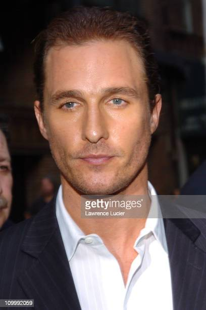 Matthew McConaughey during Matthew McConaughey Appears Outside The Late Show with David Letterman - October 4, 2005 at Ed Sullivan Theater in New...