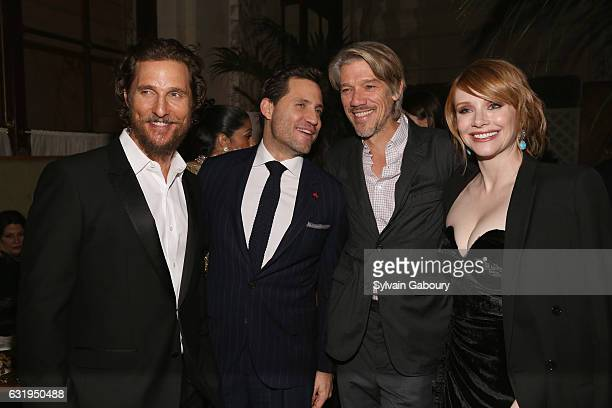 Matthew McConaughey Edgar Ramirez Stephen Gaghan and Bryce Dallas Howard attends TWCDimension with Popular Mechanics The Palm Court Wild Turkey...
