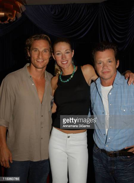 Matthew McConaughey Elaine Irwin John Mellencamp after performance