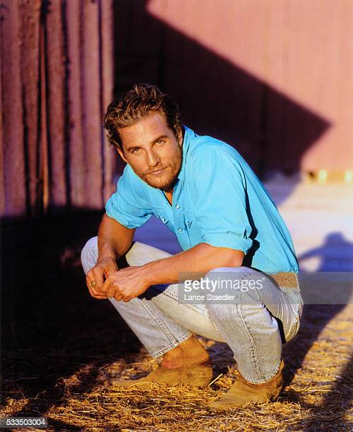 Matthew McConaughey in Cowboy Boots and Jeans