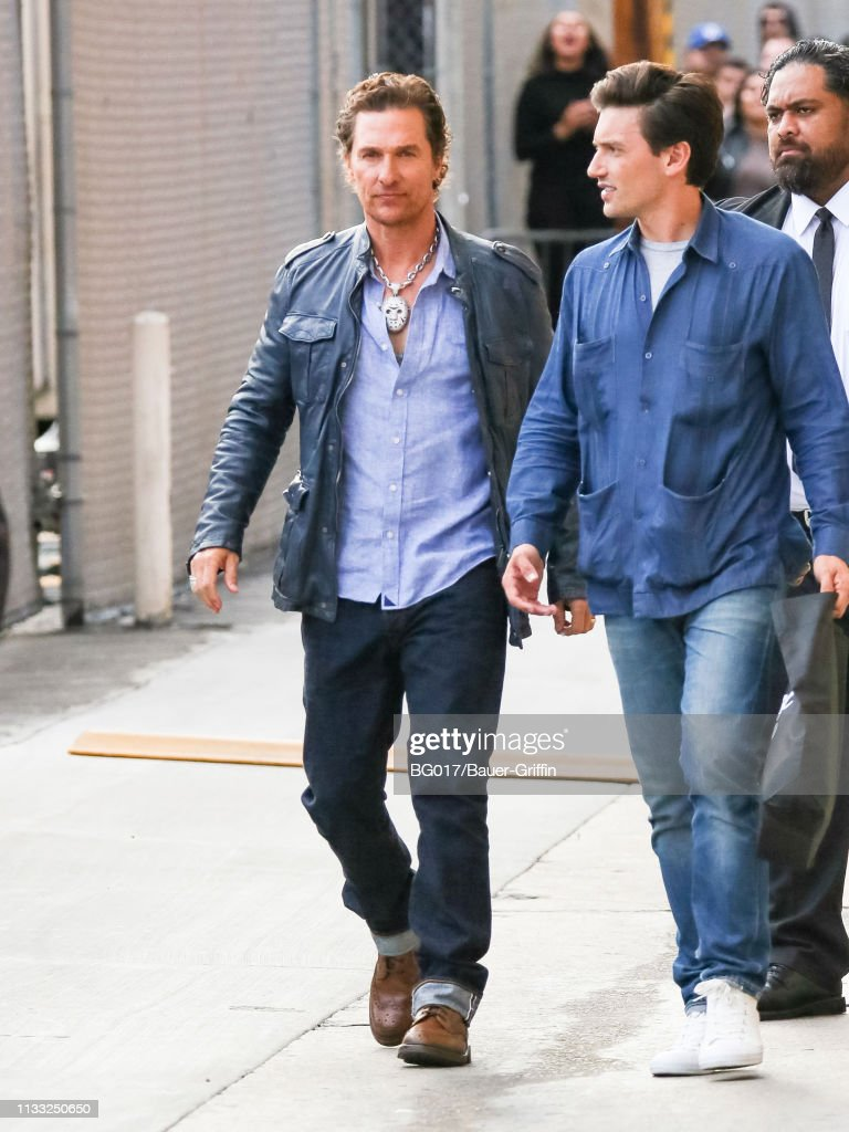 Matthew McConaughey is seen arriving at 'Jimmy Kimmel Live