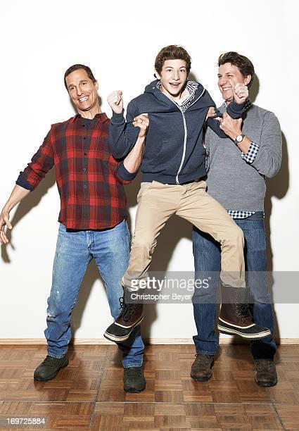 Matthew Mcconaughey Jeff Nichols Tye Sheridan are photographed for Entertainment Weekly Magazine on January 19 2013 in Park City Utah