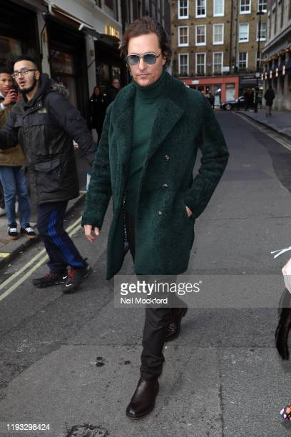 Matthew McConaughey leaving the Absolute Radio Studios on December 11 2019 in London England