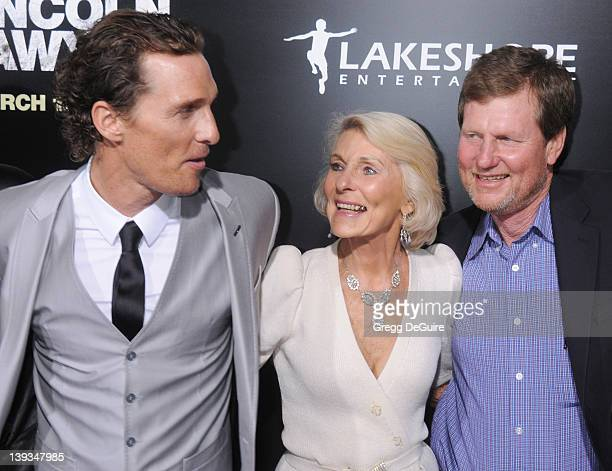 Matthew McConaughey mom Mary Kathleen McCabe and brother Michael McConaughey arrive at the Los Angeles Premiere of The Lincoln Lawyer at the ArcLight...