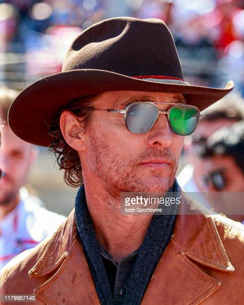 Matthew McConaughey on the grid prior to the F1 United States Grand Prix held November 3 at the Circuit of the Americas in Austin TX
