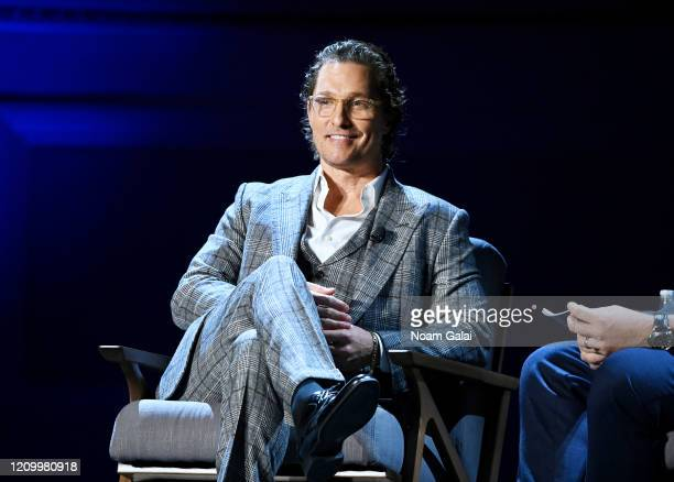 Matthew McConaughey speaks onstage during HISTORYTalks Leadership Legacy presented by HISTORY at Carnegie Hall on February 29 2020 in New York City