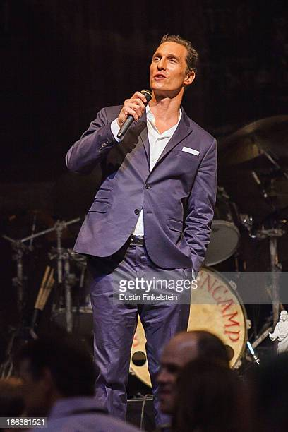 Matthew McConaughey talks onstage at ACL Live on April 11 2013 in Austin Texas