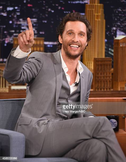 Matthew McConaughey visits The Tonight Show Starring Jimmy Fallon at Rockefeller Center on November 6 2014 in New York City