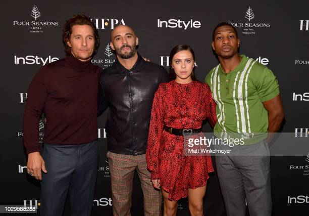 Matthew McConaughey Yann Demange Bel Powley and Jonathan Majors attend 2018 HFPA and InStyle's TIFF Celebration at the Four Seasons Hotel on...