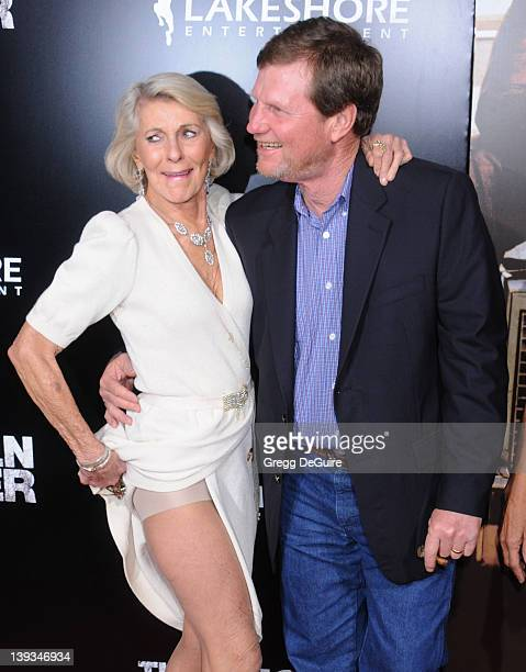 Matthew McConaughey's mom Mary Kathleen McCabe and brother Michael McConaughey arrive at the Los Angeles Premiere of The Lincoln Lawyer at the...