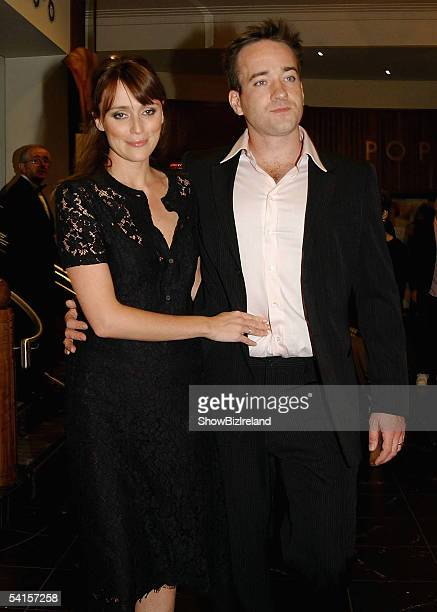 Matthew McFadyen and wife Keeley Daws attend the Irish Premiere of Pride and Prejudice in the Savoy Cinema on September 1 2005 in Dublin Ireland