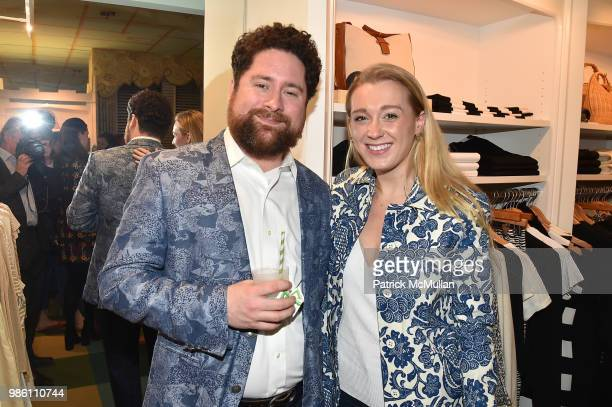 Matthew McHugh and Jane Warnock attend JMcLaughlin Shopping Event to benefit Save the Children at JMcLaughlin on April 5 2018 in New York City
