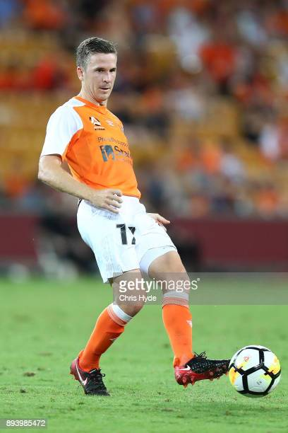Matthew McKay of the Roar kicks during the round 11 ALeague match between the Brisbane Roar and the Melbourne Victory at Suncorp Stadium on December...