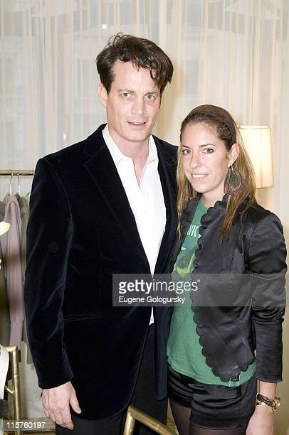 Matthew Mellon and Nicole Hanley at Matthew Mellon Noelle Reno host the Degrees of Freedom Lunch during MercedesBenz Fashion Week on February 6 2008...