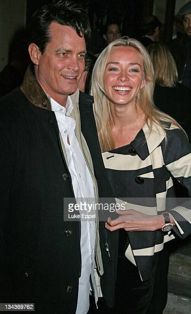 Matthew Mellon and Noelle attend the 50 Years of Italian Style Launch Party7 at the Royal Academy Of Arts on September 16 2007 in London England