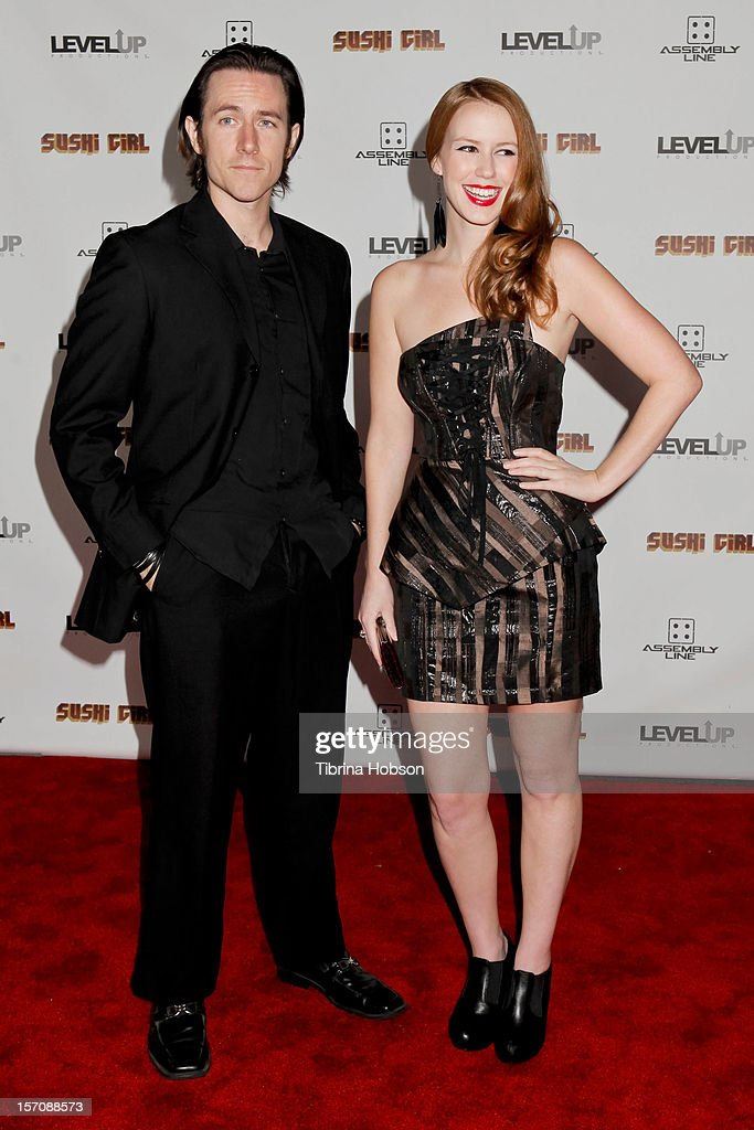 Matthew Mercer and Marisha Ray attends the 'Sushi Girl' Los Angeles premiere at Grauman's Chinese Theatre on November 27, 2012 in Hollywood, California.