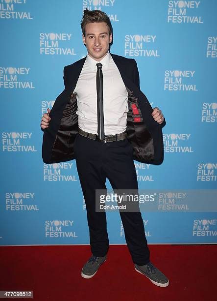 Matthew Mitcham arrives at the 'Holding The Man' World Premiere during the Sydney Film Festival Closing Night Gala at the State Theatre on June 13,...