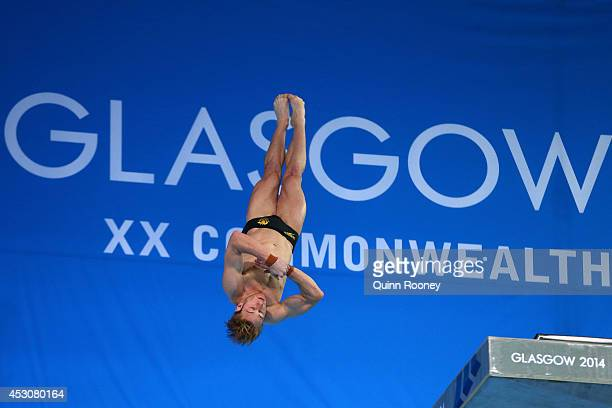 Matthew Mitcham of Australia competes in the Men's 10m Platform Final at Royal Commonwealth Pool during day ten of the Glasgow 2014 Commonwealth...