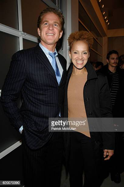 Matthew Modine and Cari Modine attend GAGOSIAN GALLERY Exhibition for JULIAN SCHNABEL at Gagosian Gallery on February 21 2008 in Beverly Hills CA