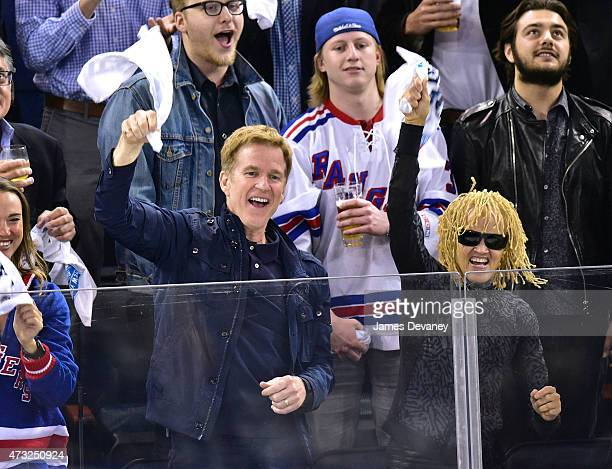 Matthew Modine and Caridad Modine attend the Washington Capitals vs New York Rangers game at Madison Square Garden on May 13 2015 in New York City
