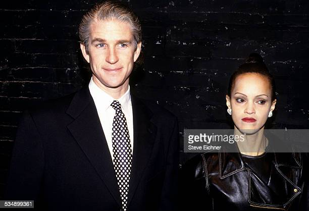 Matthew Modine and Caridad Rivera at Club USA New York June 2000