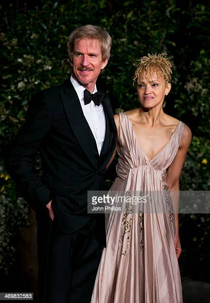 Matthew Modine and Caridad Rivera attend an official dinner party after the EE British Academy Film Awards at The Grosvenor House Hotel on February...
