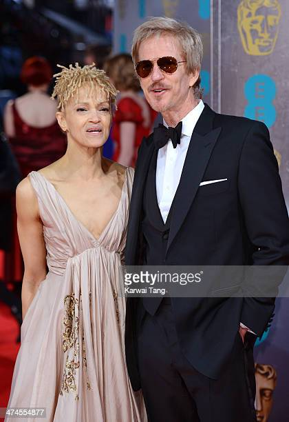 Matthew Modine and Caridad Rivera attend the EE British Academy Film Awards 2014 at The Royal Opera House on February 16 2014 in London England