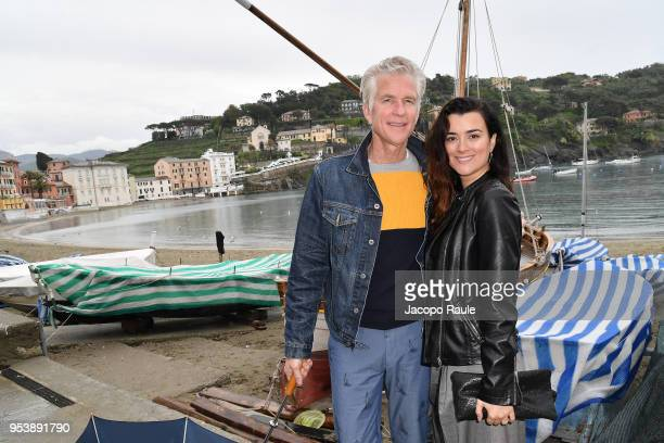 Matthew Modine and Cote de Pablo attend the Riviera International Film Festival on May 2 2018 in Sestri Levante Italy