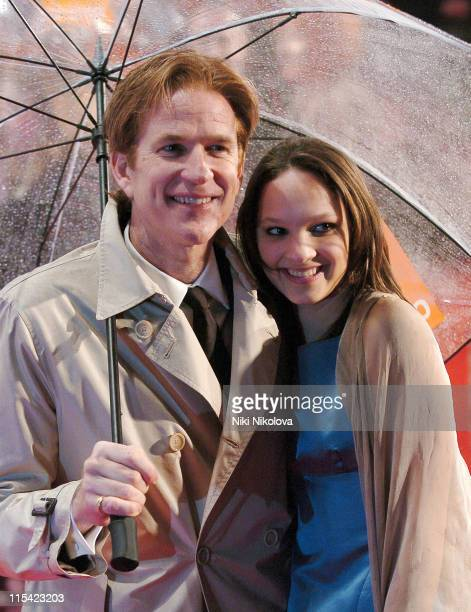 Matthew Modine and guest during The Orange British Academy Film Awards 2006 Arrivals at Odeon Leicester Square in London Great Britain