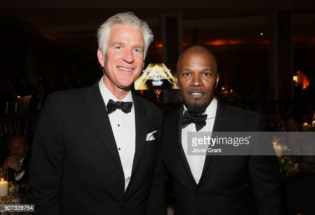 Matthew Modine and Jamie Foxx attend Byron Allen's Oscar Gala Viewing Party to Support The Children's Hospital Los Angeles at the Beverly Wilshire...