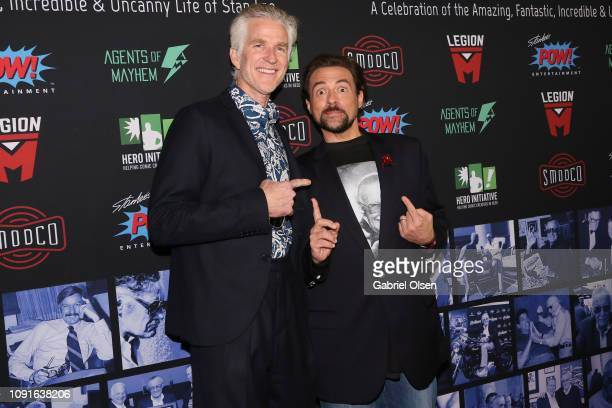 Matthew Modine and Kevin Smith arrive for Excelsior A Celebration of The Amazing Fantastic Incredible and Uncanny Life Of Stan Lee at TCL Chinese...