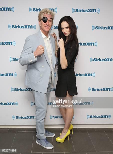 Matthew Modine and Ruby Modine visit at SiriusXM Studio on April 18, 2016 in New York City.