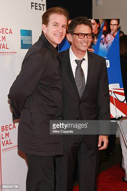 """Matthew Modine and Tim Daly attends the premiere of """"Poliwood"""" during the 8th Annual Tribeca Film Festival at the BMCC Tribeca Performing Arts Center..."""