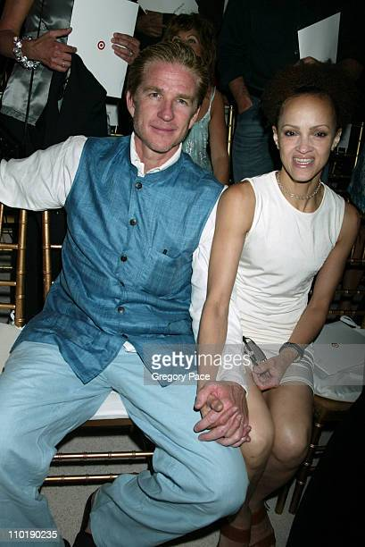 Matthew Modine and wife Cari Modine during Isaac Mizrahi Fall 2004 Fashion Show at Cipriani in New York City New York United States