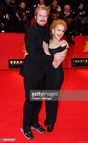 Matthew Modine and wife Caridad Rivera attend the Les Adieux De La Reine Premiere during day one of the 62nd Berlin International Film Festival at...