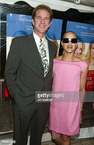 Matthew Modine and wife Caridad Rivera during Le Divorce New York Premiere Outside Arrivals at The Paris Theater in New York City New York United...