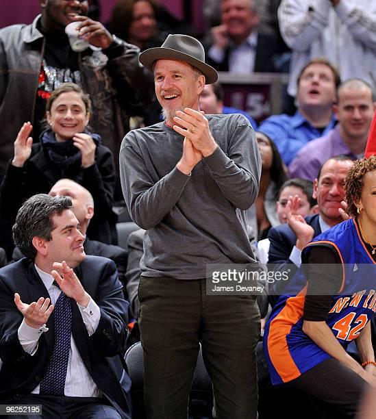 Matthew Modine attends the Toronto Raptors vs New York Knicks game at Madison Square Garden on January 28 2010 in New York City