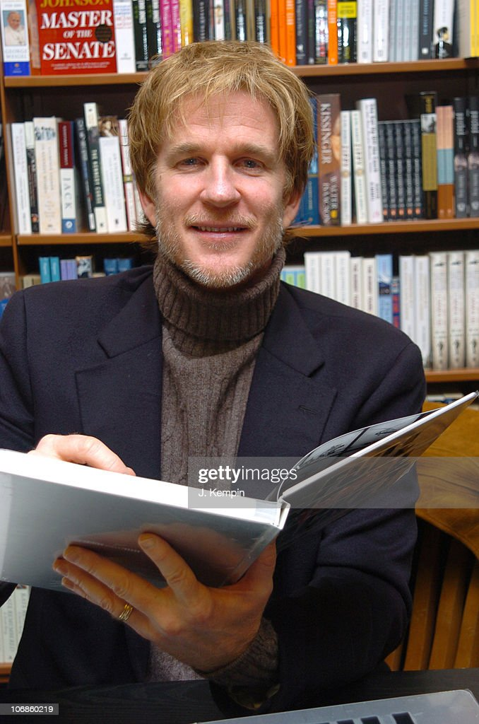 "Matthew Modine Signs His Book ""Full Metal Jacket Diary"" at Barnes & Noble in"