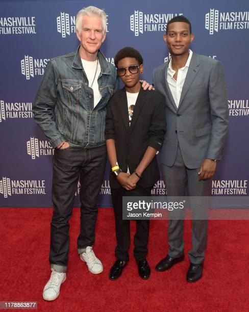 Matthew Modine Krystian Alexander Lyttle and Shane Paul McGhie attend the Nashville Film Festival's 50th Anniversary Opening Night on October 03 2019...
