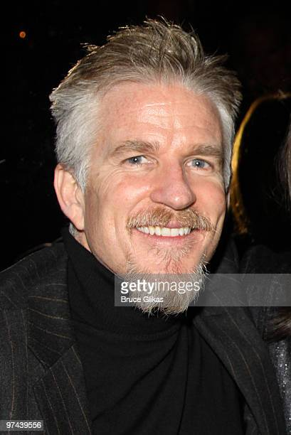 Matthew Modine poses at the after party for the Broadway opening of The Miracle Worker at Crimson on March 3 2010 in New York City