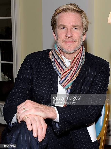 Matthew Modine poses following a performance of More Between Heaven and Earth An Evening of Theatre and Music to Benefit Americans United for...