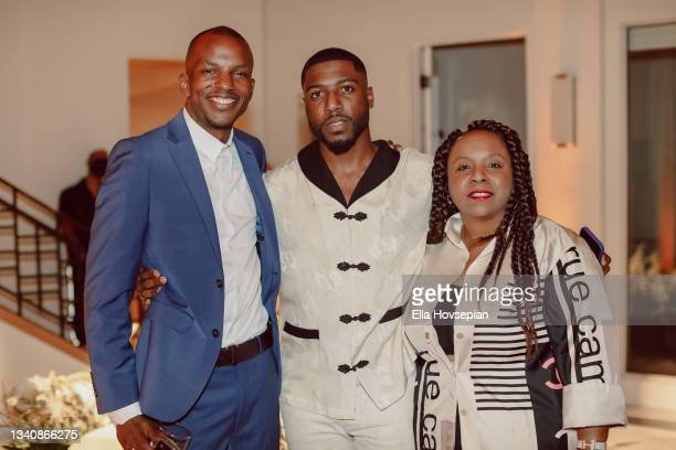Matthew Morris, Kwaku Osei-Acheampong, and Nicole Parke attend The One And Only, Dick Gregory, Album Release Event on September 16, 2021 in Burbank,...