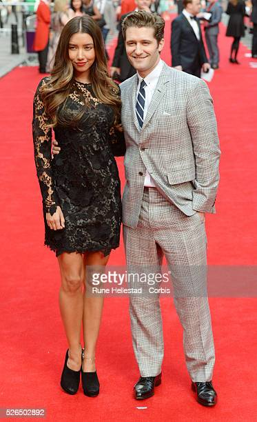 Matthew Morrison and girlfriend attend the opening night of Charlie And The Chocolate Factory at Theatre Royal