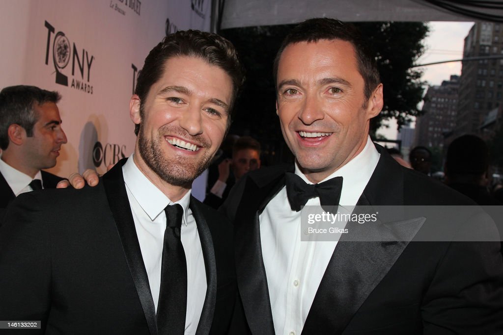Matthew Morrison and Hugh Jackman attend the 66th Annual Tony Awards at the Beacon Theatre on June 10, 2012 in New York City.