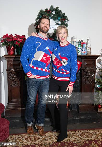 Matthew Morrison and Jane Lynch attend 'The of Christmas' video debut at Lightbox on November 30 2015 in New York City
