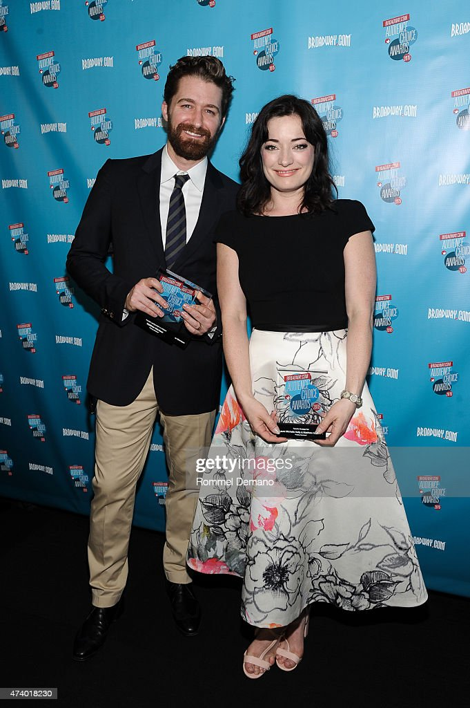 Matthew Morrison and Laura Michelle Kellyattend Broadway.com Audience Choice Awards at Lounge 48 on May 19, 2015 in New York City.