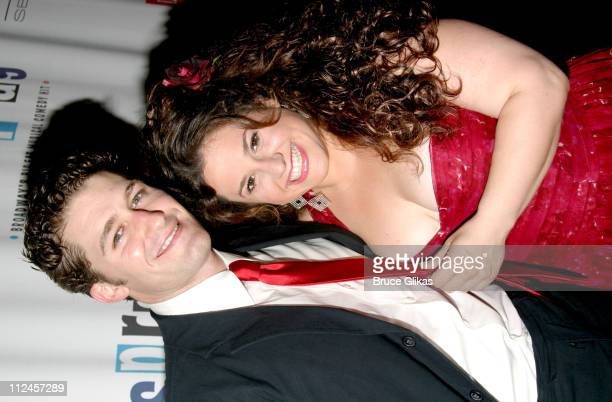 """Matthew Morrison and Marissa Jaret Winokur during """"Hairspray"""" Opening Night Los Angeles - Arrivals at Pantages Theater in Hollywood, California,..."""