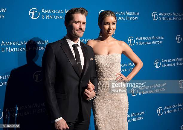Matthew Morrison and Renee Morrison attend the 2016 American Museum Of Natural History Museum Gala at American Museum of Natural History on November...