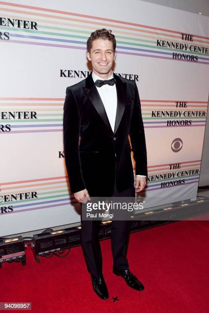 Matthew Morrison arrives to the 32nd Kennedy Center Honors at Kennedy Center Hall of States on December 6 2009 in Washington DC